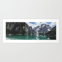 Mountain Lake Panorama // Landscape Photography Art Print