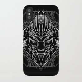 Pinstripe Megatron iPhone Case