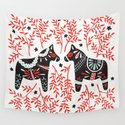 Swedish Dala Horses – Red and Black Palette by catcoq