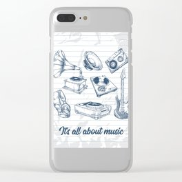 It's all about music Clear iPhone Case