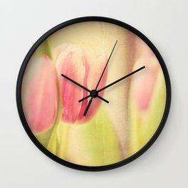 Vintage Tulips Wall Clock
