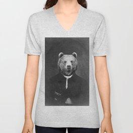 Distinguished Bear Unisex V-Neck