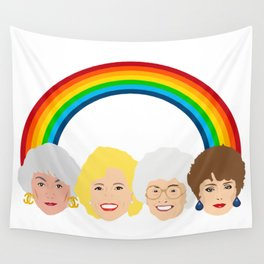 The Golden Girls LGBT Rainbow Pride Wall Tapestry