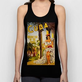 Cuba Holiday Isle of the Tropics Unisex Tank Top
