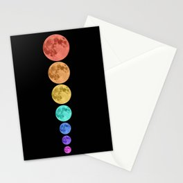 MOON GLOW RAINBOW Stationery Cards