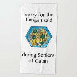 Catan, Settlers of Catan, Board Game, Geek Art, Nerd Art Beach Towel