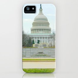 Capitol building photography iPhone Case