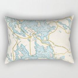 Vintage Muskoka Lakes Map Rectangular Pillow