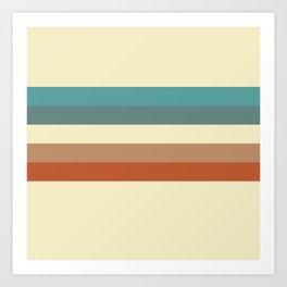 retro color palette Art Print