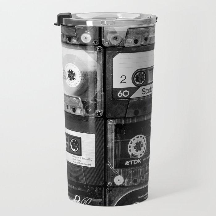 Something Nostalgic - black and white #decor #buyart #society6 Travel Mug