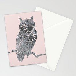 Street owl Stationery Cards