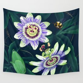 Passion Flower Vine Wall Tapestry