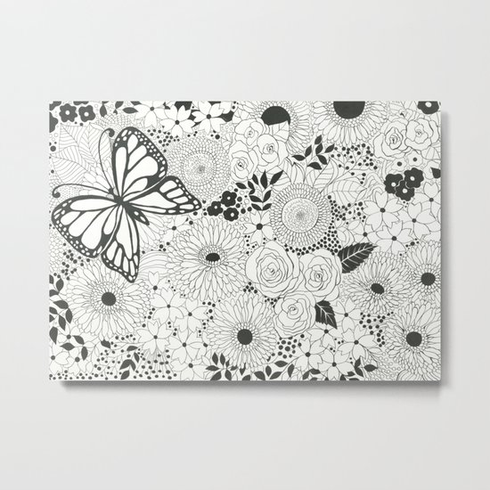 Monarch garden Metal Print