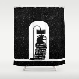 CAT READING SHAKESPEARE Shower Curtain