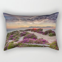 Headon Hill Sunset Isle Of Wight Rectangular Pillow
