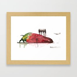 Straight For The Knife  Framed Art Print