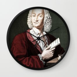 Antonio Vivaldi (1678-1741) by Morellon de la Cave in 1725 Wall Clock