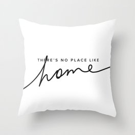 There's No Place Like Home - White Throw Pillow