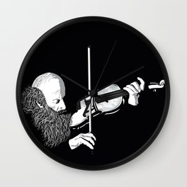 ·the violinist Wall Clock