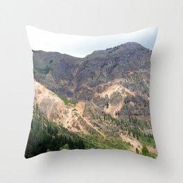 Gold Mines All Along the Animas River Throw Pillow