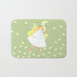 FLOWERS AND BEES!!! Bath Mat