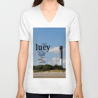 lucy V-neck T-shirts featuring Lucy by KimberosePhotography