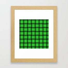 Large Lime Green Weave Framed Art Print