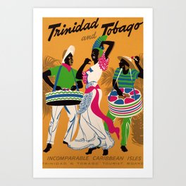 retro Plakat Trinidad and Tobago Art Print