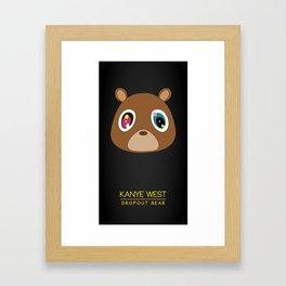 Dropout Bear Framed Art Print