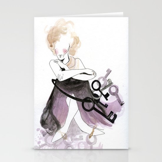 Keys to the castle Stationery Cards