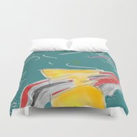 fishing Duvet Covers featuring FISHING by  ECOLARTE