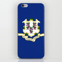 flag Connecticut,america,us,new England,constitution,Connecticuter,Yale,Nutmegger,Hartford iPhone Skin