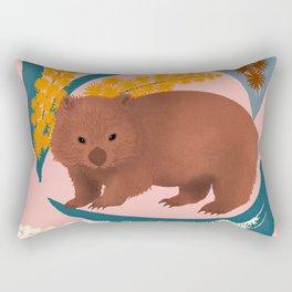 Wombat and Mimosa (aka waddle and wattle) Rectangular Pillow