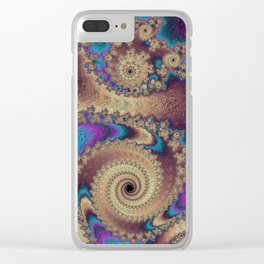 Northern Nights Clear iPhone Case