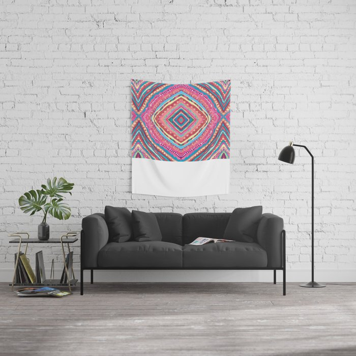 Bright Gypsy Bohemian Abstract Pattern Wall Tapestry