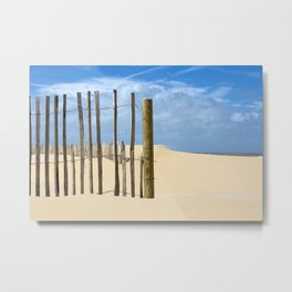 Fence in the sand Metal Print