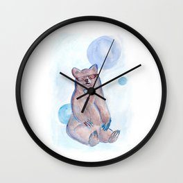 Hipster bear Wall Clock