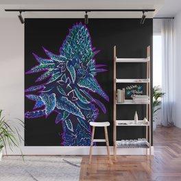 Glowing Cannabis Indica Wall Mural
