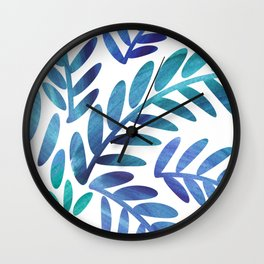 Whimsical Watercolor Palm Tree Wall Clock