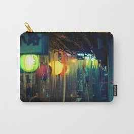 Small Tokyo street izakaya in the rain at night Carry-All Pouch