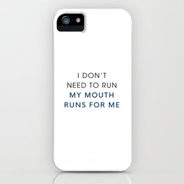 Running Mouth iPhone Case