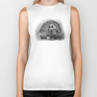 hedgehog Biker Tanks featuring Hedgehog by MARIA BOZINA - PRINT