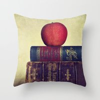 books Throw Pillows featuring Books by Lawson Images