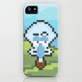 Squidward Pixels iPhone Case