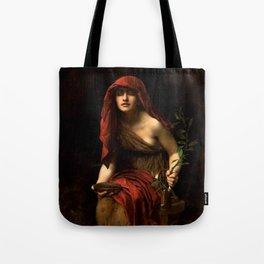 "John Collier ""Priestess of Delphi"" Tote Bag"