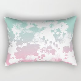 Margot - abstract painting mint and pink pastel trendy girly home decor dorm college gifts Rectangular Pillow