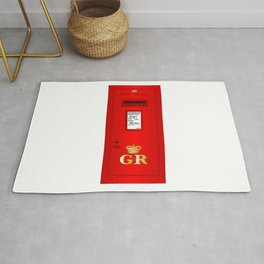 Traditional British  Georges Reign Postbox Rug