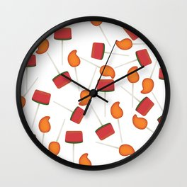 Fun colorful Mexican paletas pattern Wall Clock