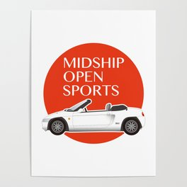 Midship Open Sports Poster