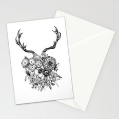 Deer Flowers Stationery Cards